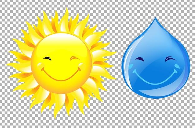 Soleil et goutte d'eau