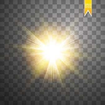 Soleil isolé sur fond transparent