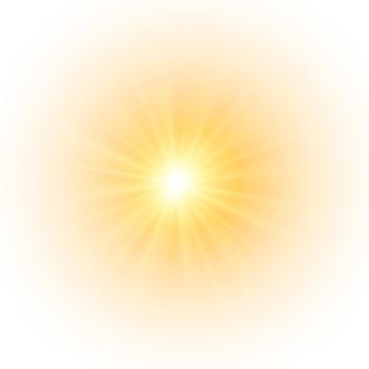 Le soleil jaune, un éclair, une douce lueur sans rayons de départ, l'étoile scintillait d'étincelles