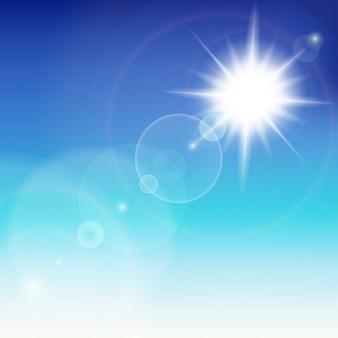 Soleil avec lumière parasite.