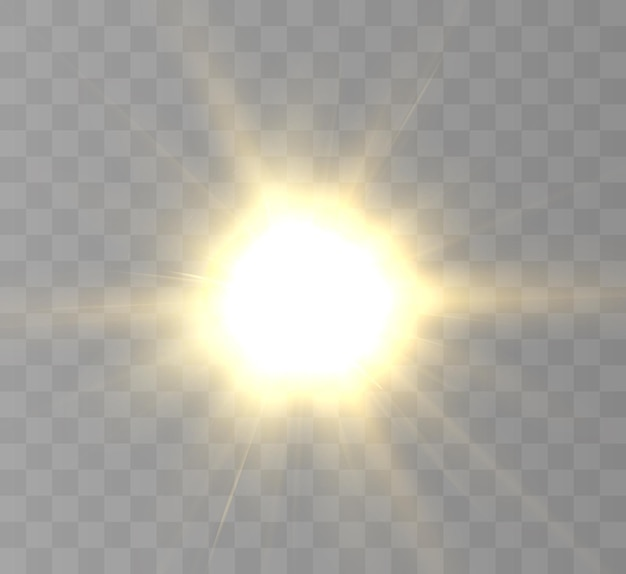 Soleil réaliste