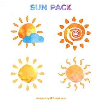 Soleils aquarelle pack