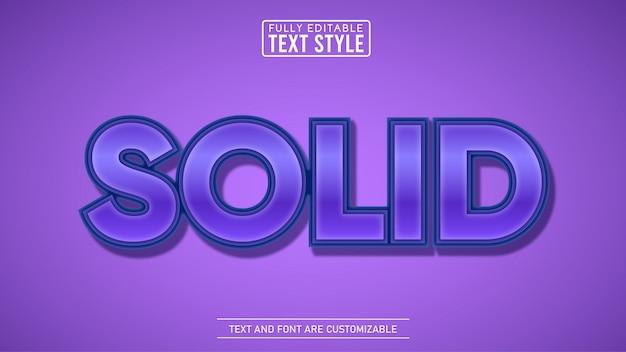 Solide violet 3d avec effet de texte modifiable en ombre