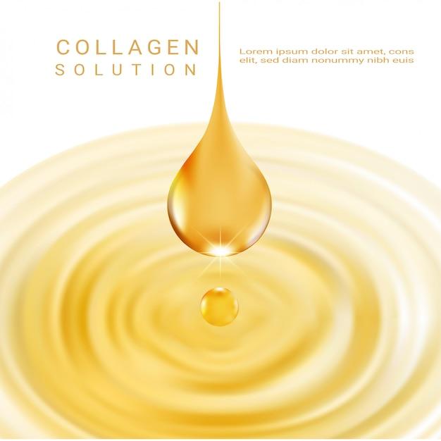 Solution cosmétique. essence de collagène suprême.