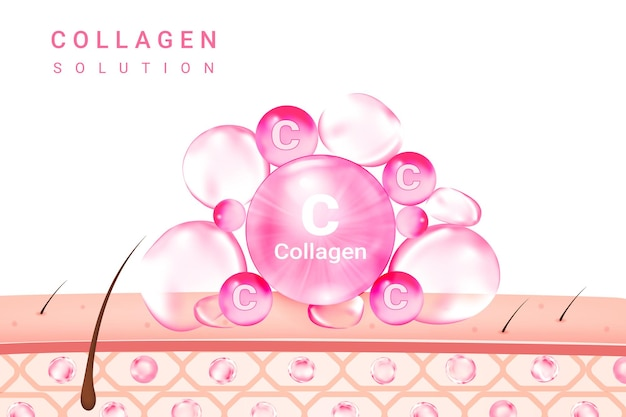 Solution cosmétique essence de collagène suprême