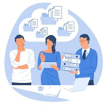 Solution de document d'entreprise cloud design plat