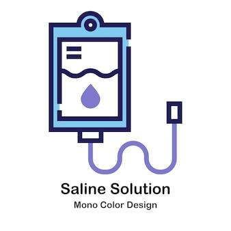 Solution saline mono couleur icon