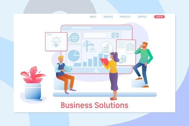 Des solutions d'affaires.