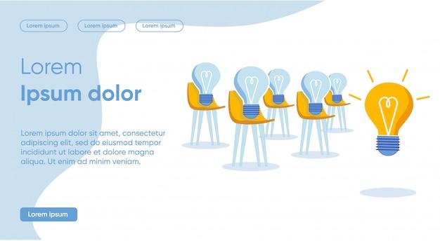 Solutions à chaque tâche spécifique avec l'aide d'une page de destination d'idée