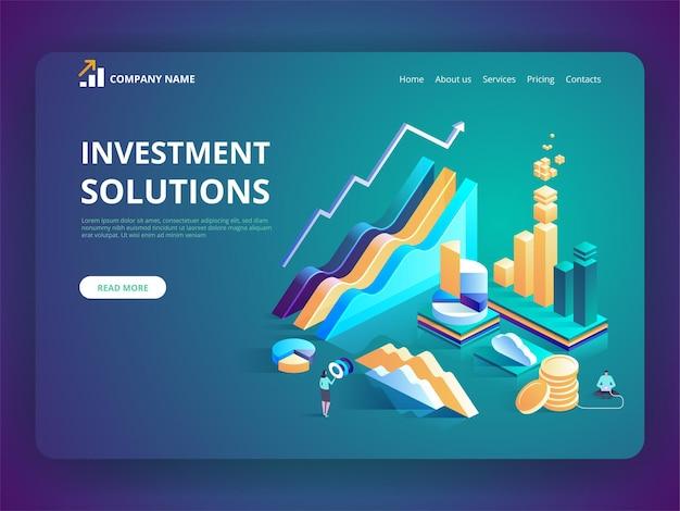 Solutions d'investissement stratégie d'économie de développement de la banque