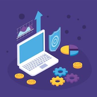 Solutions de paiement avec ordinateur portable