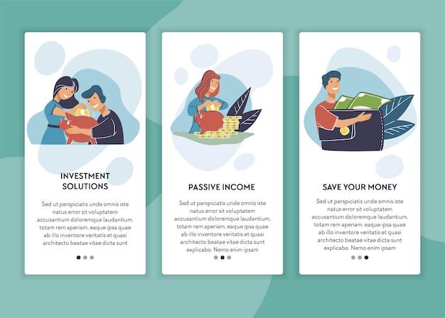 Solutions de placement à revenu passif et gains