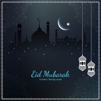 Sombre beau religieux eid mubarak