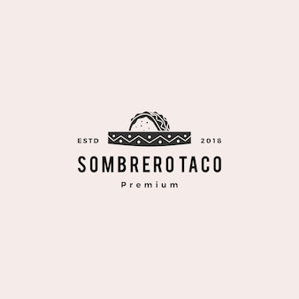 Sombrero hat taco logo icône illustration vectorielle