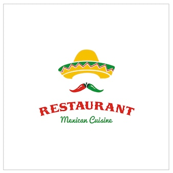 Sombrero mexicain avec piment pour le restaurant taco
