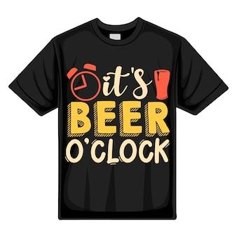 Son heure de la bière typographie premium vector tshirt design modèle de devis