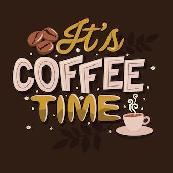 Son heure du café cite des dictons