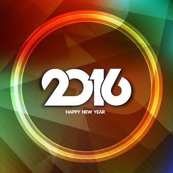 Sonnez nouvelle année sur un fond abstrait