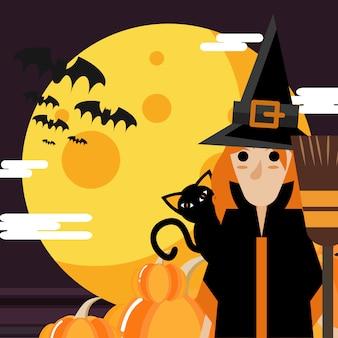 La sorcière et la lune