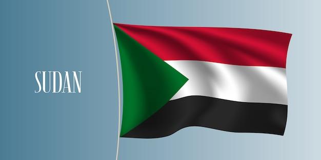 Soudan agitant le drapeau illustration