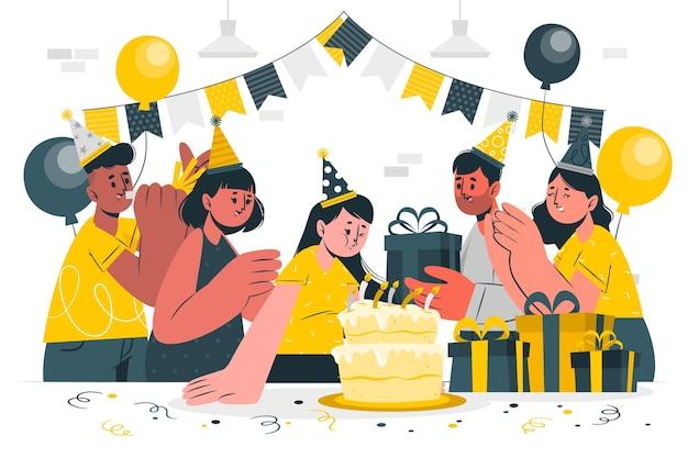 Souffler illustration de concept de bougies d'anniversaire