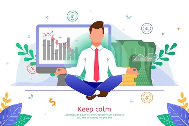 Soulagement du stress dans les affaires bannière plate de travail