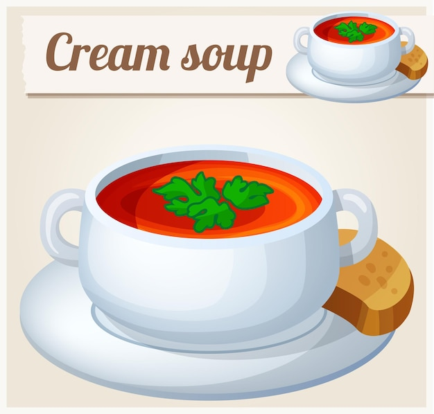Soupe à la crème.