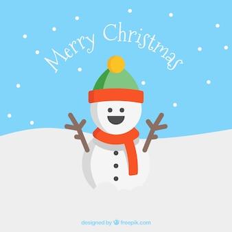 Sourire bonhomme de neige carte de voeux