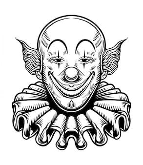 Sourire clown chicano vector illustration