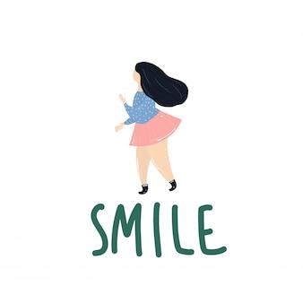Sourire fille en surpoids