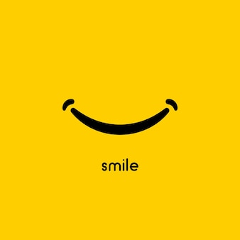 Sourire icône symbole de conception graphique vectorielle ou logo.