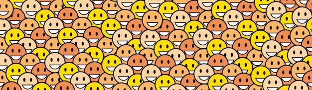 Sourire jaune visages arrière plan horizontal