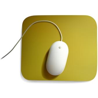 Souris d'ordinateur blanche