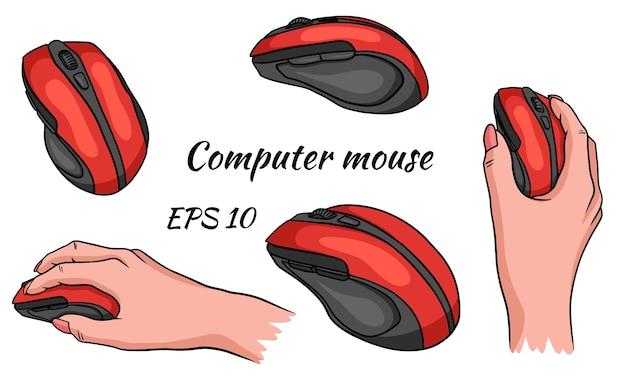 Souris d'ordinateur en main