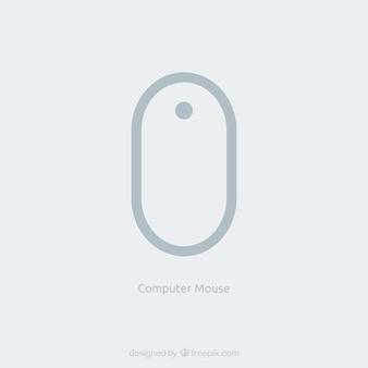 Souris d'ordinateur à plat