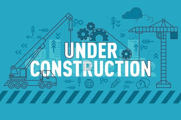 Sous le concept de bannière de site web de construction