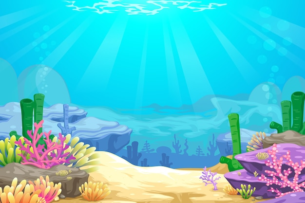 Sous la mer blackground