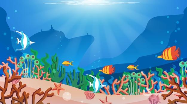 Sous la mer - fond pour la vidéoconférence