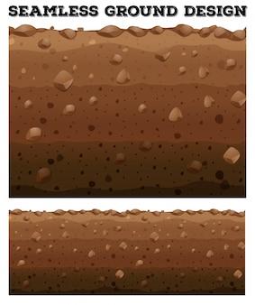 Sous-sol transparent avec différentes couches