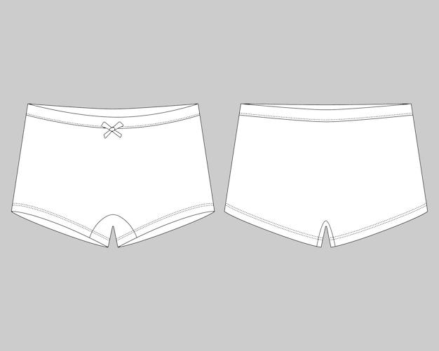 Sous-vêtement de mini culotte enfant