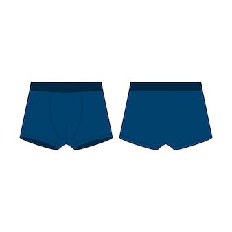 Sous-vêtements de boxeur bleu pour les garçons isolés.