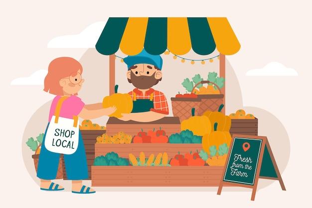 Soutenir le concept des agriculteurs locaux