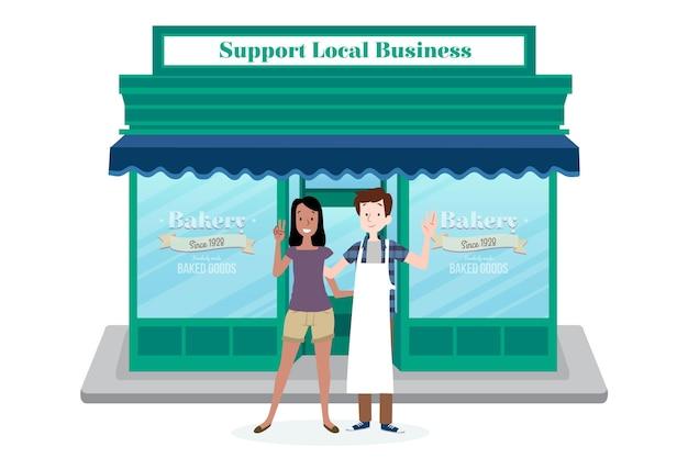 Soutenir le concept d'entreprise locale