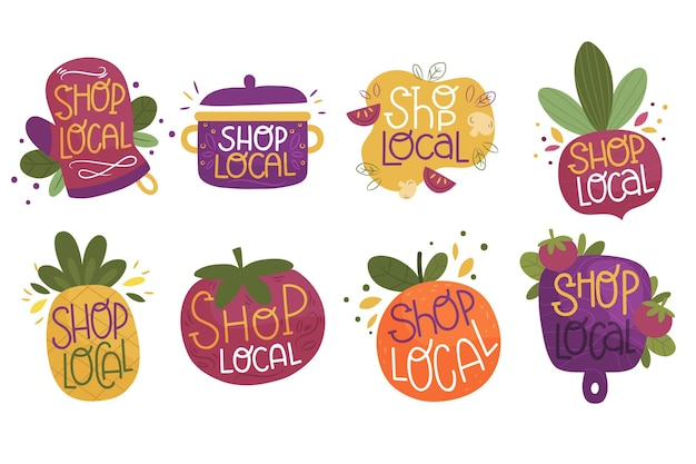 Soutenir le concept de lettrage des entreprises locales