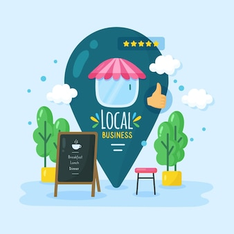 Soutenir l'illustration de l'entreprise locale
