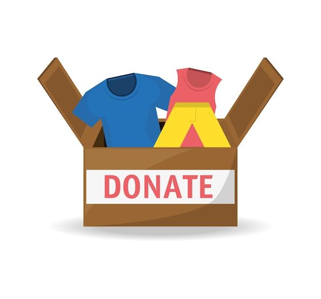 Soutien de don de vêtements à la charité du peuple