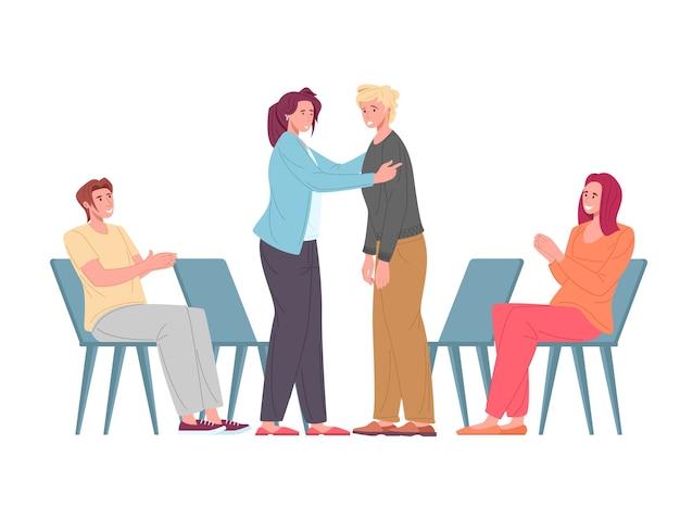 Soutien psychologique sur le groupe psychothérapeutique