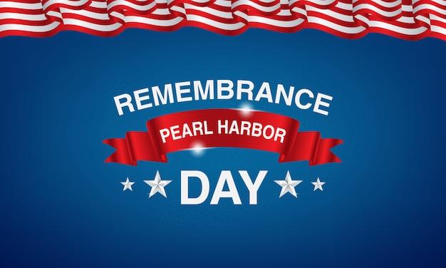Souvenir de pearl harbor avec des drapeaux américains et des ballons
