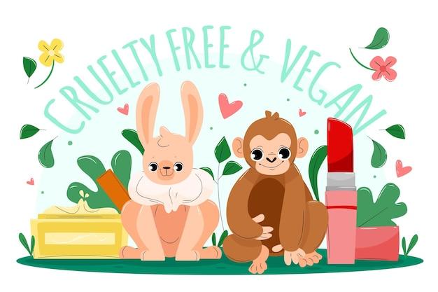 Soyez amical avec le concept végétalien des animaux