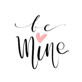 Soyez mes mots avec le coeur comme carte d'amour.